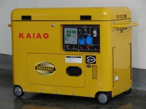 5kVA KAIAO générateur diesel portable mobile avec roues
