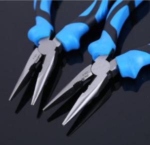 6 pulgadas mini alicates de punta afilada, alicates de punta de aguja multifunción