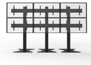 Metalllandschaftsvideowand-Standplatz 6-Screens Floorbase (Aw 600A)