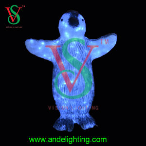 Fábrica de luz de navidad de Zhongshan CE RoHS Pingüino aprobado de la luz de animales