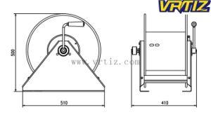 100フィートの手動鋼鉄エア・ホースの巻き枠(H530)