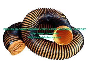 Tela de PVC flexible el conducto de aspiración del aire de ventilación en la construcción naval