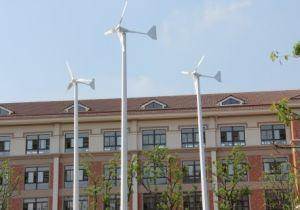 500W12V太陽電池パネルのハイブリッド格子システムが付いている水平の風力発電機