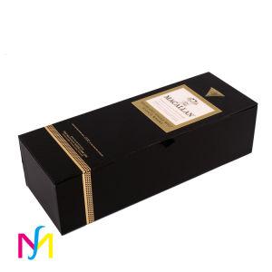 Boîte d'emballage en carton de luxe Red Wine Stamping