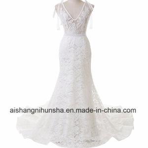 Elegante Brücke-reizvolles Spitze-Nixe-Hochzeits-Kleid