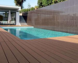 Populaires en plastique en bois Composite Decking Tensity avec haute