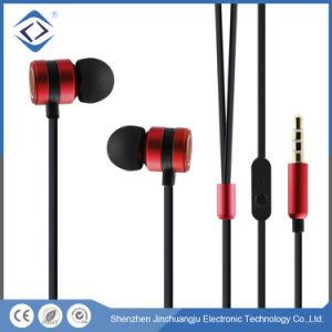 耳のイヤホーンの携帯電話のアクセサリのTPEによってワイヤーで縛られるステレオ3.5mm