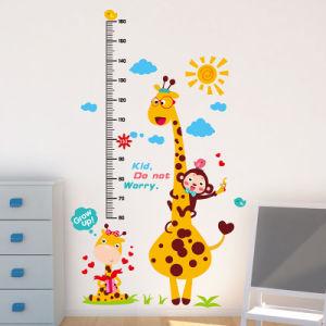 Medição da altura de crianças em PVC personalizado Cartoon Gráfico de Crescimento animal adesivo de parede