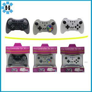 Preto/Branco/cinza clássico jogo Wireless Controller Gamepad Joypad remota para consola Wii U PRO