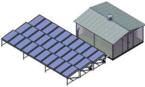 Sécheur d'énergie solaire pour 1000kg de poisson