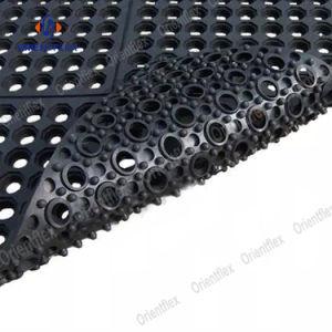 Tapete de deslizamento não corte a folha de borracha preta do tapete de borracha Antiderrapagem