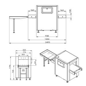 Uniqscan Sf5030A Röntgenstrahl-Gepäck-Scanner