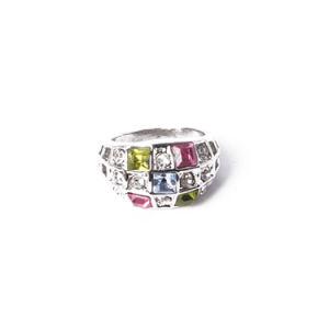 La moda joyas chapado en oro rosa Anillo con diamantes de imitación