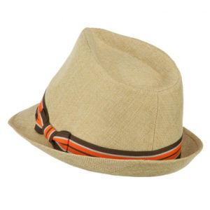 Los jóvenes bien Toyo trenzada banda de cinta de papel de la banda de sombrero Fedora - Caqui