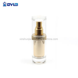 美しい方法金プラスチック紫外線製品のクリーム色の瓶