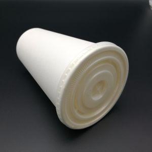 Blanco Negro cubierta de plástico tapa para la Copa de papel diferentes tapas PS