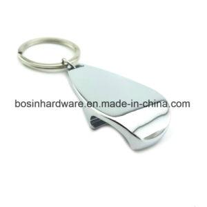 Abridor de botellas Llavero de metal simple para la impresión de logo
