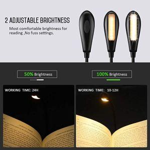 明るい読書の再充電可能な小型クリップは7つのLEDの2レベルの本ライトを暖める