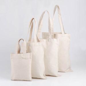 Offre d'usine recyclés toile imprimée sac fourre-tout promotionnelle