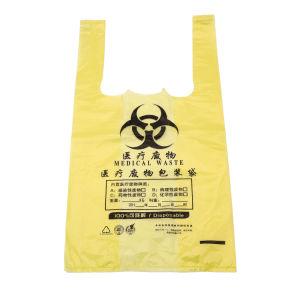 L'impression personnalisée PEHD Pbat LDPE PLA Amidon de maïs OK Compost visage souriant Merci supermarché de Shopping Mall T-Shirt compostable biodégradable des sacs en plastique