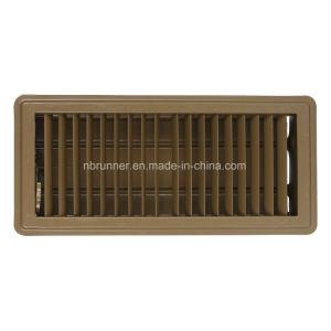 Registre de plancher avec lame-301101 opposés à l'amortisseur