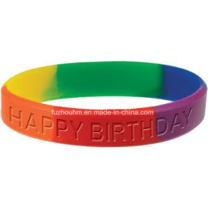 Wristband variopinto ecologico del braccialetto del silicone