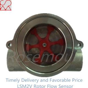 Salida de señal de pulso Micro Transmisor de flujo a la vista y visual del sensor de flujo de la rueda de paletas