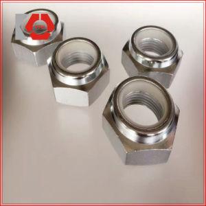 Acier inoxydable hexagonal Nylon les écrous de blocage/DIN985