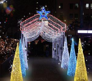 Al aire libre grandes estrellas de LED LED Iluminación decorativa de navidad luces Motif