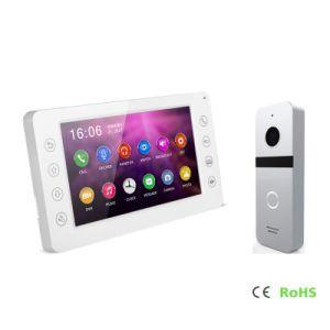 HDのホームセキュリティーのインターホンメモリの通話装置7インチのビデオDoorphone