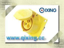 110V Socket industriel monté sur panneau avec la certification CE