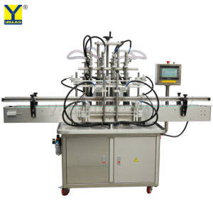 Yt4T-4G Caixa de 4 cabeças de enchimento de líquido de café bebidas vinho SUCO ENVASE máquina de enchimento