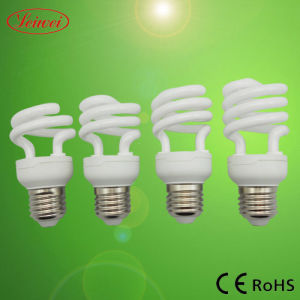 T2 7W, 9W, 11W, 15W, 20W metade lâmpada economizadora de energia em espiral, Luz