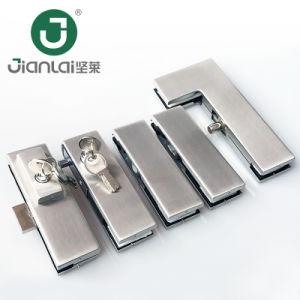 Sem caixilho da porta de vidro Patch de aço inoxidável para montagem de hardware da porta