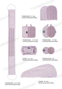 El cáñamo de algodón de la correa de baño corporal exfoliante Correa Volver Guantes manoplas esponjas Pad de la banda de la cabeza Bath-Pillows