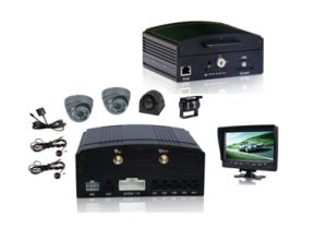 4 CH HDD Mobile DVR, Aufbauen-in GPS/3G/Wi-Fi, in Realem-Time Monitoring, in Support Hard Disk u. in 64GB Sd Card