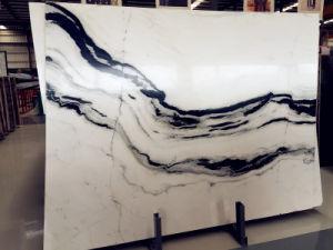 Panda-weißer Marmorwand-Fußboden-Fliese-Buch-Abgleichung-Marmor für Mindestpreis-Pflasterstein-Weiß-Marmor