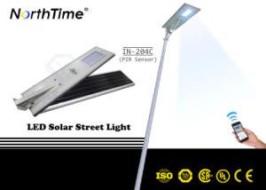 動きセンサーの電話APPが付いているモノクリスタルケイ素のパネルLEDの太陽街灯