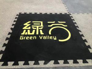 1mx1m No-Toxic antideslizamiento de puntos de caucho EPDM de interbloqueo de colorida alfombra de suelo de caucho Gimnasio