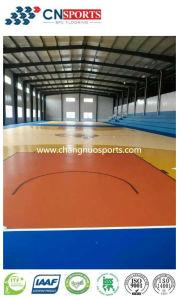Campo da pallacanestro dell'unità di elaborazione del silicone di riduzione di scossa di stile di legno di struttura