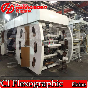 Máquina de impressão de alta velocidade de Flexo da película de Shrink da máquina de impressão 4 Colors/PVC da película de Shrink do PVC