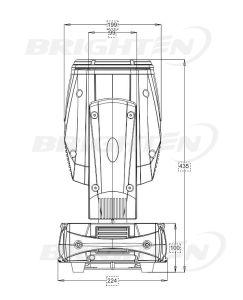 小型200W Sharpyの移動ヘッドビーム段階ライト