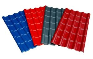 建築材料か屋根ふきまたは非対称多重処理システムの鋼板