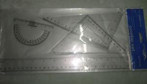 righello stabilito del banco dell'allievo della cancelleria dell'ufficio del righello di plastica stabilito del righello di 30cm