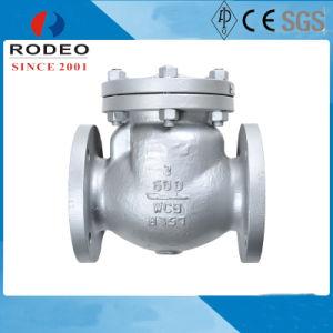 Control de flujo de agua de acero inoxidable de la válvula de retención de bola de brida