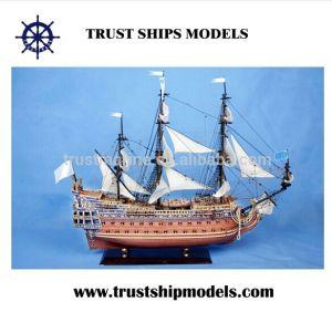 Modelo de velero de madera de alta calidad para la venta