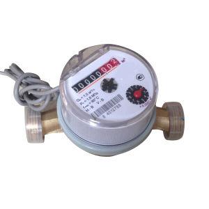 Chorro único Cuerpo de mini contador de agua con salida de pulsos