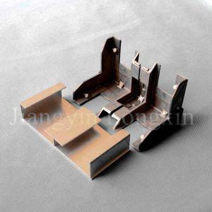 Profil en aluminium pour la construction avec le moulage des pièces