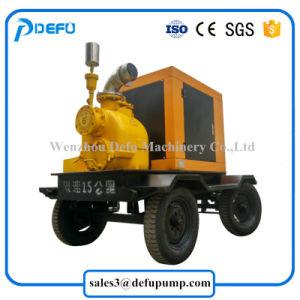 Una sola etapa remolques accionadas por motor Diesel montado las bombas de aguas residuales de autocebado