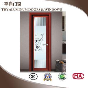 Китайском стиле благоухающем курорте Деревянные зерна алюминиевые декоративные дверная рама перемещена двери